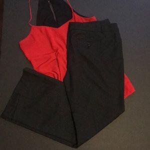 Polka dot black modern fit Worthington slacks